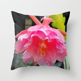 Ballerina's Pink Tutu Throw Pillow