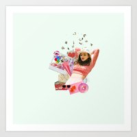 charli xcx Art Prints featuring Charli XCX by Kat Heroine