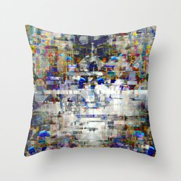 ...seeping into spaces/carving out those crevices. Throw Pillow
