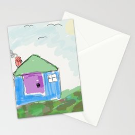 House on a Hill Stationery Cards