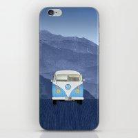 volkswagen iPhone & iPod Skins featuring Volkswagen Bus by Aquamarine Studio