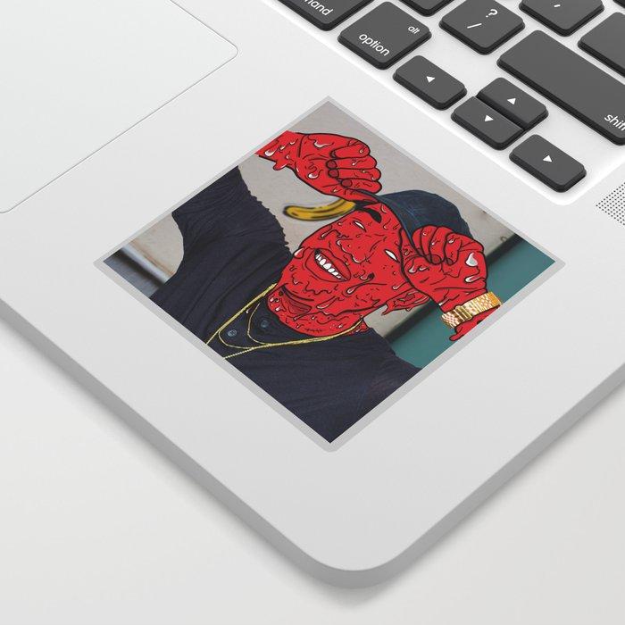 """""""Running Red"""" Grime Sticker"""