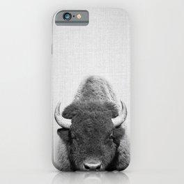 Buffalo - Black & White iPhone Case