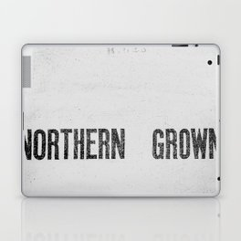 NORTHERN GROWN  White  Laptop & iPad Skin