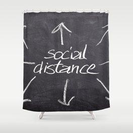 Social Distance Shower Curtain