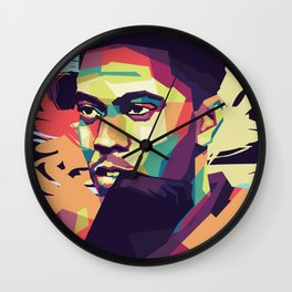Anthony Martial on WPAP Pop Art Portrait Wall Clock