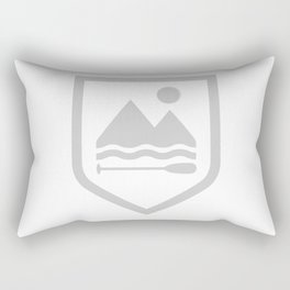 Under The Eclipse - Grey Rectangular Pillow