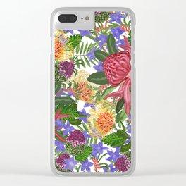Australian Flora Clear iPhone Case