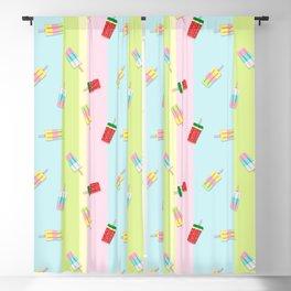 Popscicles Summer Pastel Colors Blackout Curtain
