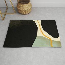 shapes organic mid century modern Rug