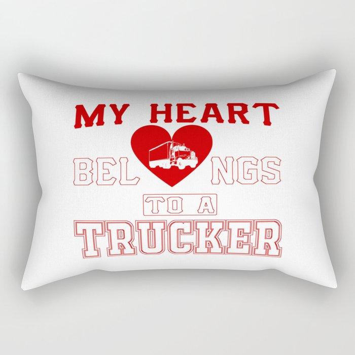 My heart belongs to a Trucker Rectangular Pillow