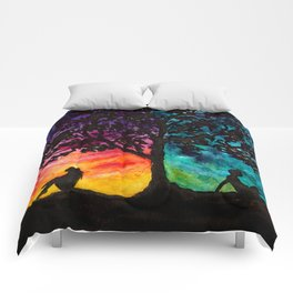 Two Different Worlds Comforters