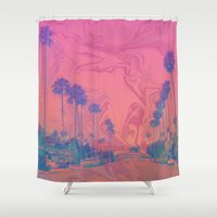 california Shower Curtains featuring California by Calepotts