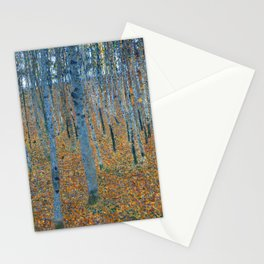 Gustav Klimt - Beech Grove I - Forest Painting Stationery Cards