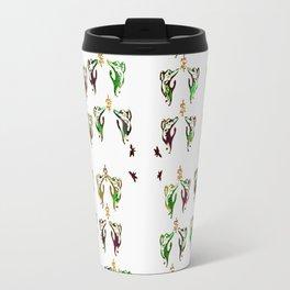 green multi cats Travel Mug