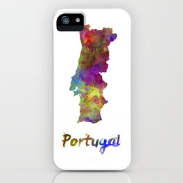 Portugal in watercolor iPhone Case