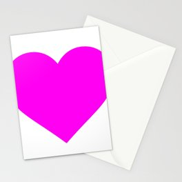 Heart (Magenta & White) Stationery Cards
