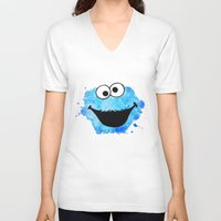 cookie V-neck T-shirts featuring Cookie by Cookstar
