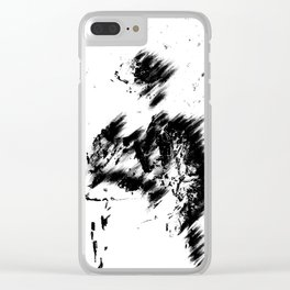 Abstract Soldier (Black) Clear iPhone Case
