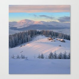 WINTER SCENE-3118/2 Canvas Print