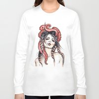 octopus Long Sleeve T-shirts featuring Octopus by Nora Bisi