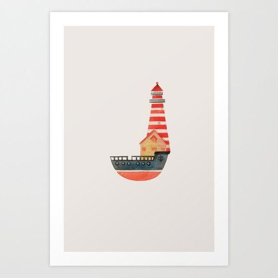 To The Land of Imagination Art Print