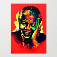mandela Canvas Prints featuring Mandela by abinibi