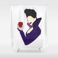 evil queen Shower Curtains featuring Evil Queen  by Swell Dame