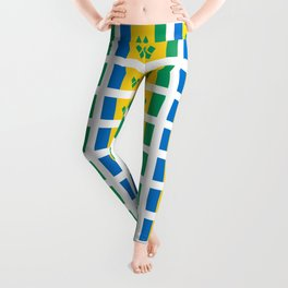 flag of Saint Vincent and the Grenadines-Saint Vincent,Grenadines,Vincentian, Vincy,Kingstown Leggings
