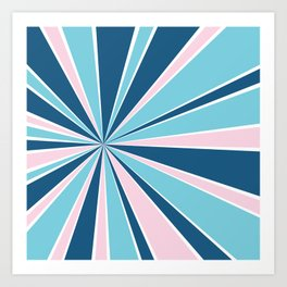 Starburst Pink and Blue Art Print