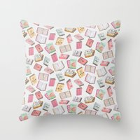 books Throw Pillows featuring Books by Abby Galloway