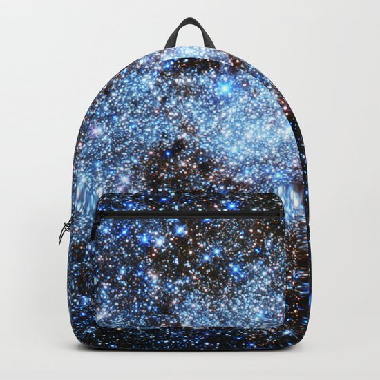 gAlaxY : Blue Sparkle Stars Backpack