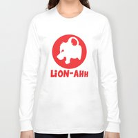 thundercats Long Sleeve T-shirts featuring Lion-ahh by Mike Nieuwstraten