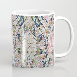 Pink Blue Green Leaf Flower Paisley Coffee Mug