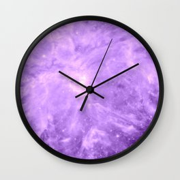 Lavender Orion Nebula Wall Clock