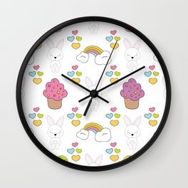 Cute rabbits Wall Clock