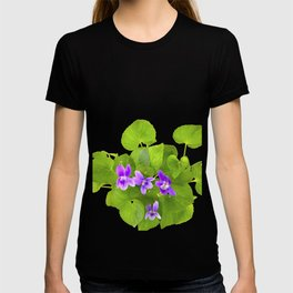 Bunch of Wild Violets Isolated on White T-shirt