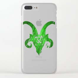 Green Horned Skaven Clear iPhone Case