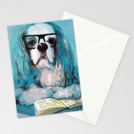 Librarian Pup Stationery Cards