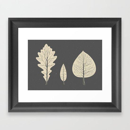 Tree-leaf Framed Art Print
