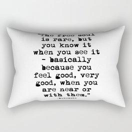 Charles Bukowski Typewriter Quote Free Soul Rectangular Pillow