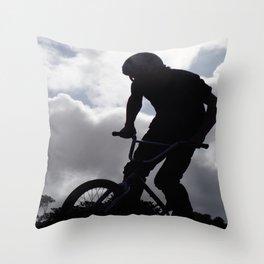 Sky Rider Throw Pillow