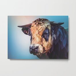 Abstract Cow Metal Print