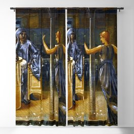 """Sir Edward Coley Burne-Jones """"The Knights of the Round Table Summoned to the Quest by a Damsel"""" Blackout Curtain"""