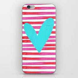 Soulmates Lines and Hearts iPhone Skin
