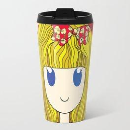 Little Girl with Ribbon Travel Mug