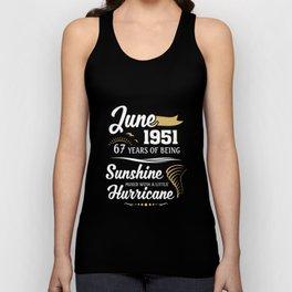 June 1951 Sunshine mixed Hurricane Unisex Tank Top