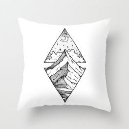 The mountain and the stars Throw Pillow