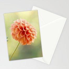 Orange Dahlia Flower Stationery Cards