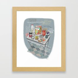 1960s Breakfast Framed Art Print